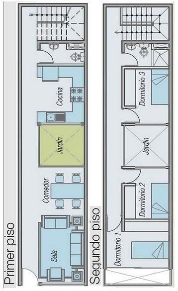 Plano para terreno de 5 x 10