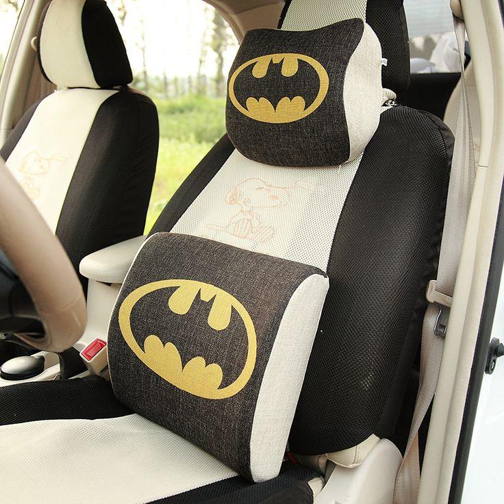Batman Memory Foam Neck Pillow Car Seat Pillow Winter Car Headrest  Memory Foam Auto Supplies Neck Pillow Auto Safety Cushion #Affiliate