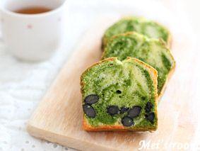 Schwarze Bohnen enthalten feuchten grünen Tee Marmor Pfund Kuchen Rezept