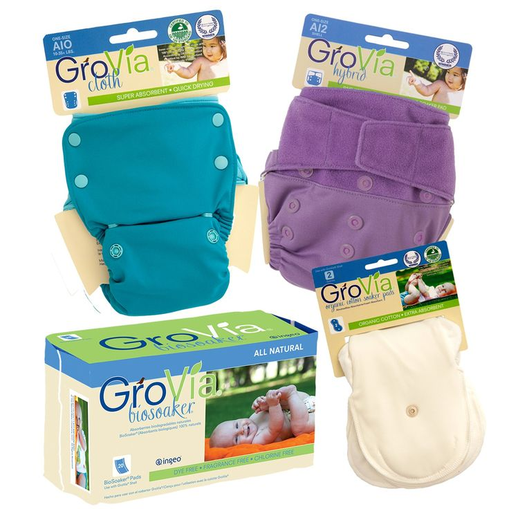 If you're just learning about #clothdiapers, you might be curious about how different systems stack up against each other. Shipping is FREE on this try-it-out package: #GroVia Hybrid vs. GroVia AIO.  http://www.gro-via.com/hybrid-vs-aio-package.html