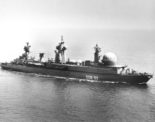 Soviet Navy's SSV-33 Ural nuclear command and control ship.