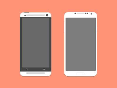 HTC One and Galaxy S4 (PSD)