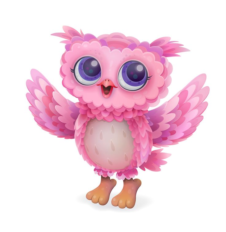Pink Feathery Owl