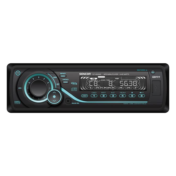 SCT 4058MR - Car radio with media player