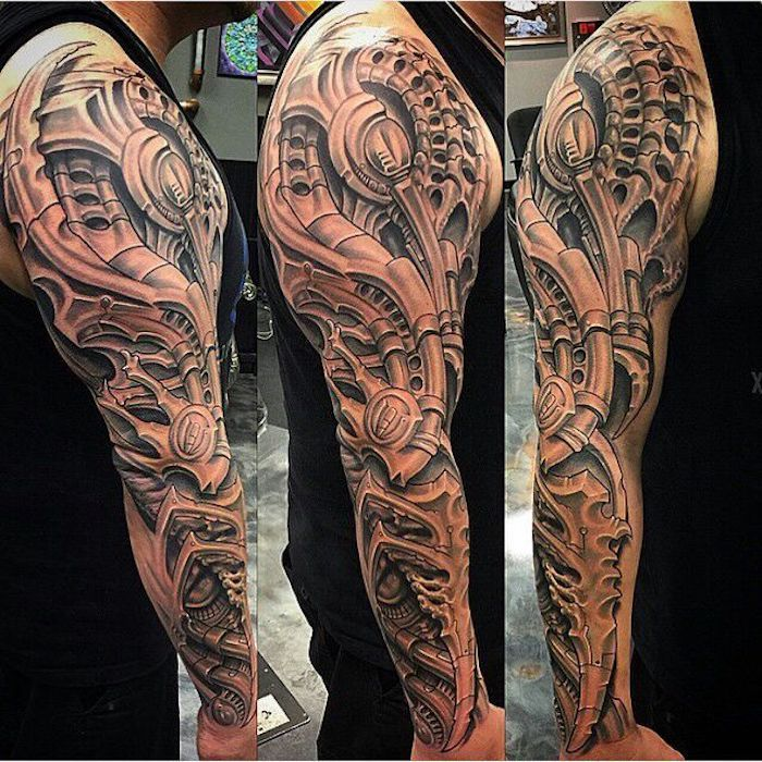 Cooltop Tattoo Trends Lion Full Sleeve Design 8