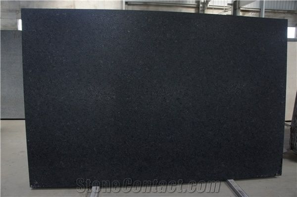 Black Granite Leather Finish Tiles Slabs Flooring Covering