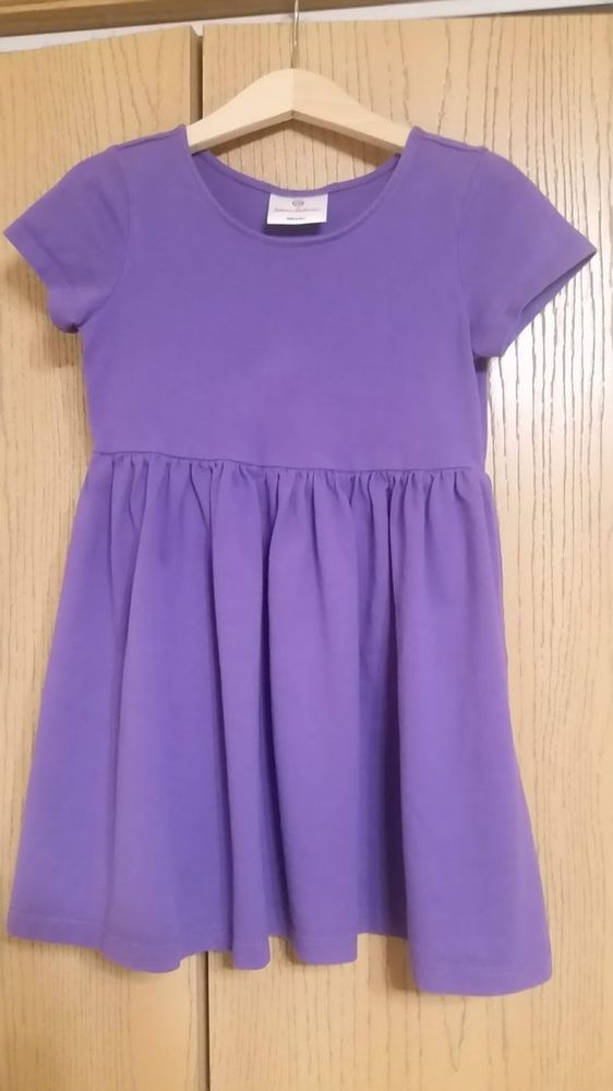 6746ee878dcd5 Hanna Andersson Girls Purple Dress Sz 110 (5-6) Short-slv Cotton Very Good  #fashion #clothing #shoes #accessories #kidsclothingshoesaccs ...