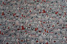 110*100 cm 100% algodón tejido de retazos de tela diy perros perro impreso costura juguete del bebé acolchado llanura sentía dibujos animados niños tejidos(China (Mainland))