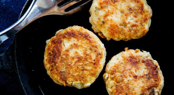 Leftover cod is perfect for this tasty Acadian recipe for golden brown and delicious Dried Cod Cakes.