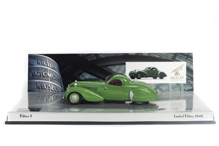 "1939 Bugatti Type 57C Coupe - ""Vanvooren"" Edition 5 - Minichamps model licensed by the Mullin Automotive Museum. This product is an accurate scale model and not a toy. Collectors Model. Not suitable f"