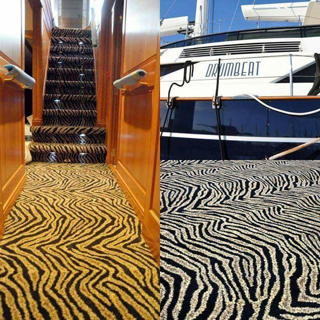 Need something original? The vessel Drumbeat is strikingly different in our Kenya synthetic wall to wall carpet. #carpet #carpets #carpetdesign #kenyastyle #customcarpet #sourcemondialnz #animalprint