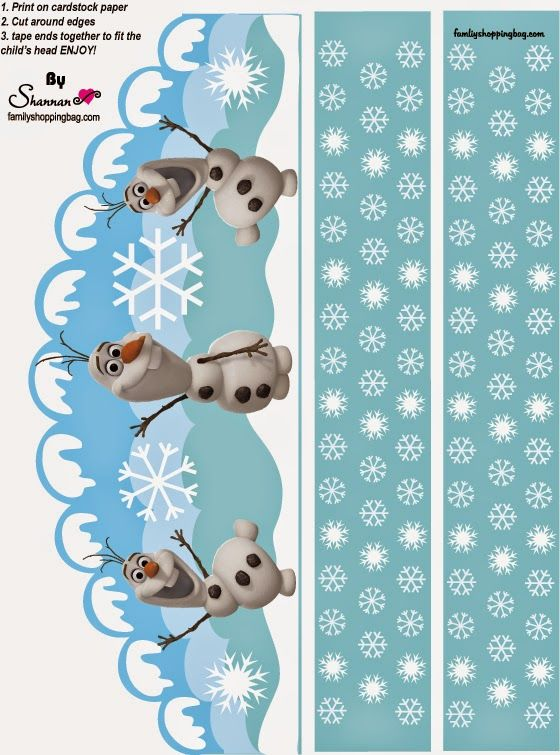Frozen: Olaf Free Printable Crown.