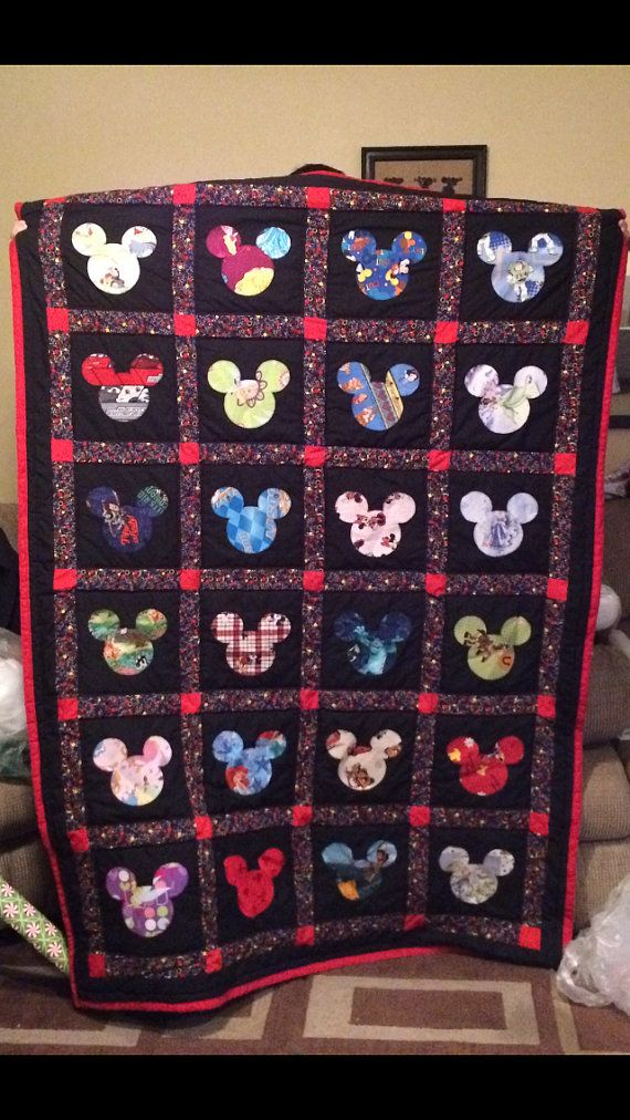 Disney Quilts Completely Customizable by TeacherthatQuilts on Etsy