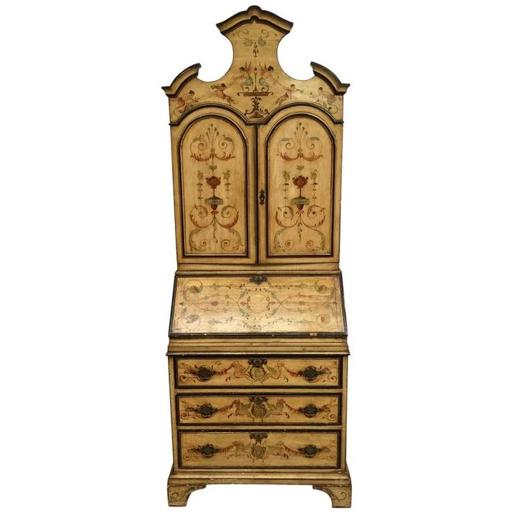 Italian Hand-Painted Secretary Desk 1