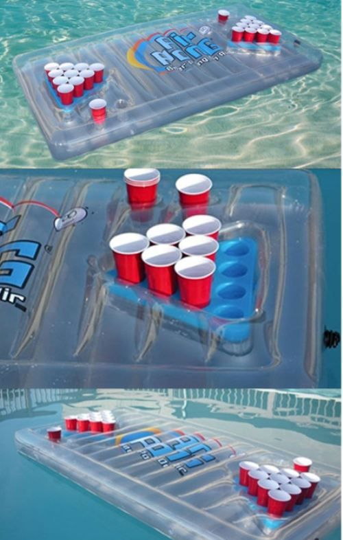 Floating beer pong!