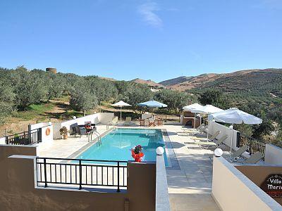 Rethymno villa rental - Villa Maria-The balcony has views of the pool!