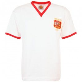 Manchester United 1957 FA Cup Final Retro Manchester United 1957 FA Cup Final Retro Football Shirt. The Busby babes were set to dominate domestic football until the Munich tragedy when United were robbed of the best young talent in football.  http://www.MightGet.com/may-2017-1/manchester-united-1957-fa-cup-final-retro.asp
