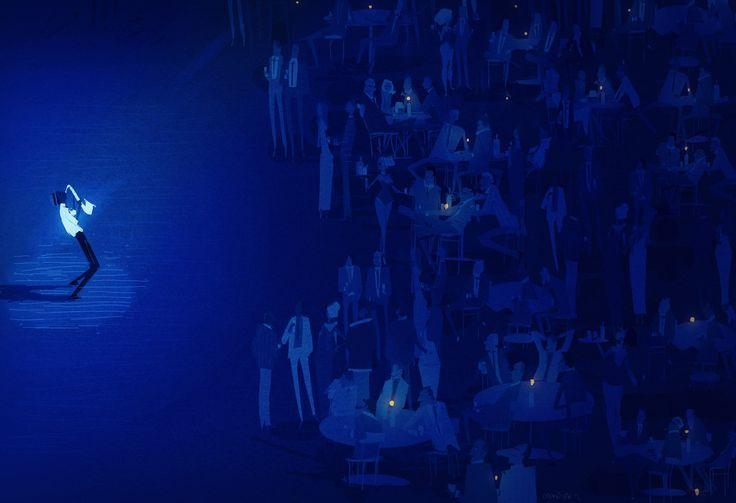 blue note pascal campion: Campion Art, Inspiration Illustrations, Artists Pascale, Blue Note, Campion Blue, Blue Moon, Campion Illustrations, Pascalcampion Deviantart, Pascale Campion