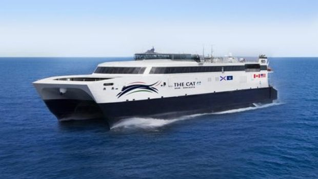 Bay Ferries signed a lease with the U.S. military's Sealift Command for a high-speed vessel, which is being renamed The Cat.