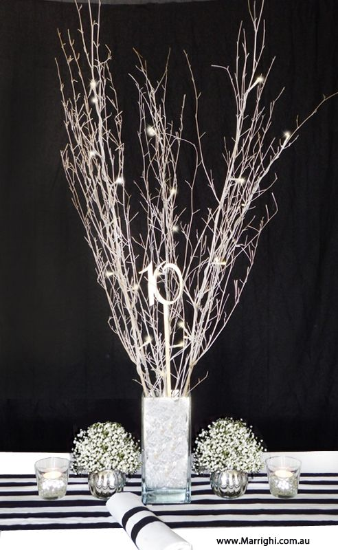 Add Some Rustic Magic To Your Black White Stripe Event Or Wedding Table Decor