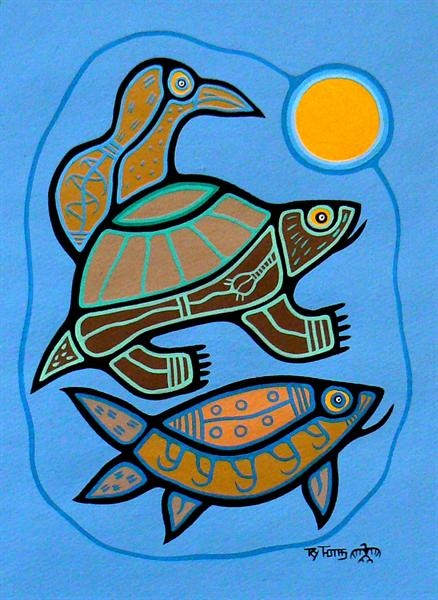 Sunrise - Contemporary Canadian Native, Inuit & Aboriginal Art - Bearclaw Gallery
