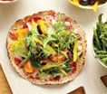 Carrie Underwood's No-Guilt Veggie Pizza: Recipes: Self.com : This recipe is as easy as pie. The tortilla crust and reduced-fat cheese trim calories and fat, and the more vegetables you pile on (Underwood likes spinach, olives, onions and bell peppers), the more disease-fighting antioxidants you get. via @SELF Magazine