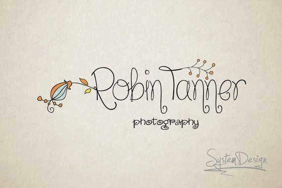 Photography Logo - Premade Logo design - Logo for photographer - Flower logo design