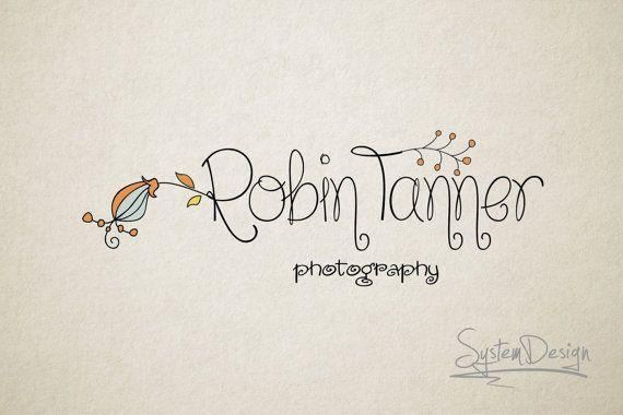Photography Logo - Premade Logo design - Logo for photographer - Flower logo design