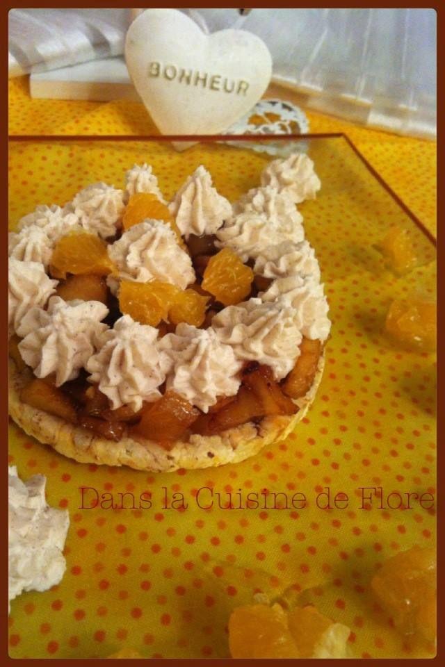 ** Tartine de Mais Soufflé Pomme Caramélisée et Chantilly à la Canelle ~ Dans la Cuisine de Flore ** http://danslacuisinedeflore.over-blog.com/
