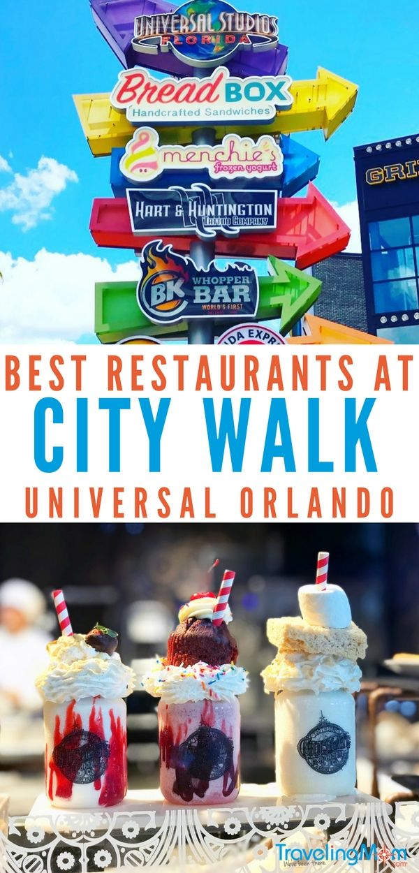 7 Best Places To Eat At Universal City Walk Featured On Traveling Mom Pinterest Orlando Studios And Travel