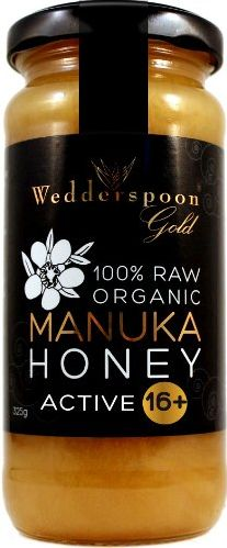 Manuca Honey The bioactivity or strength, so to speak, of manuka honey varies and is indicated by a number ranging between 5 and 25. UMF 5-9: low activity levels UMF 10-15: moderate activity levels UMF 16+: high activity levels
