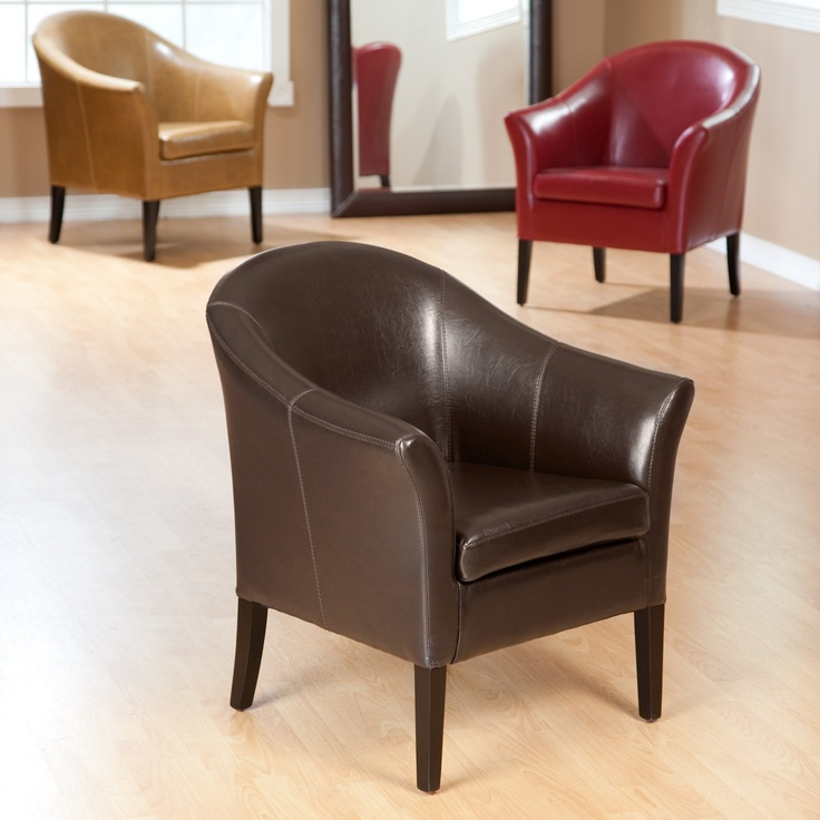 Pierre Leather Club Chair - Leather Club Chairs at Hayneedle
