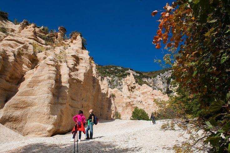 Le Lame Rosse del lago di Fiastra in autunno, nel Parco Nazionale dei Monti Sibillini (Marche)