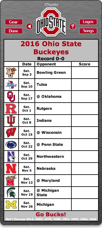 BACK OF MAC APP - 2016 Ohio State Buckeyes Football Schedule App - Go Bucks! - National Champions 2014, 2002, 1970, 1968, 1961, 1957, 1954, 1942  http://2thumbzmac.com/teamPages/Ohio_State_Buckeyes.htm