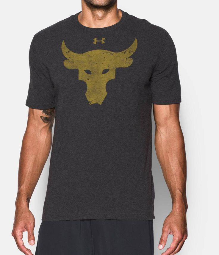 Men's UA x Project Rock Brahma Bull T-Shirt, Black , zoomed image