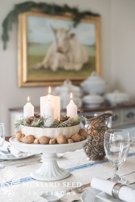 Pretty Advent candles! Christmas 2015 recap - Miss Mustard Seed