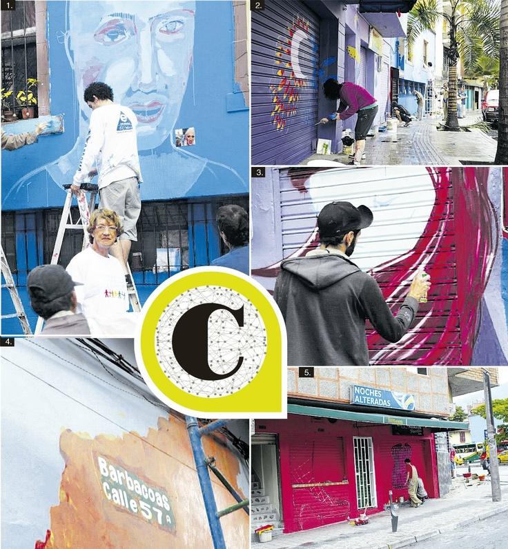 La calle Barbacoas toma color gracias a la Corporación Galería Urbana. Publicado el 16 de diciembre de 2012.