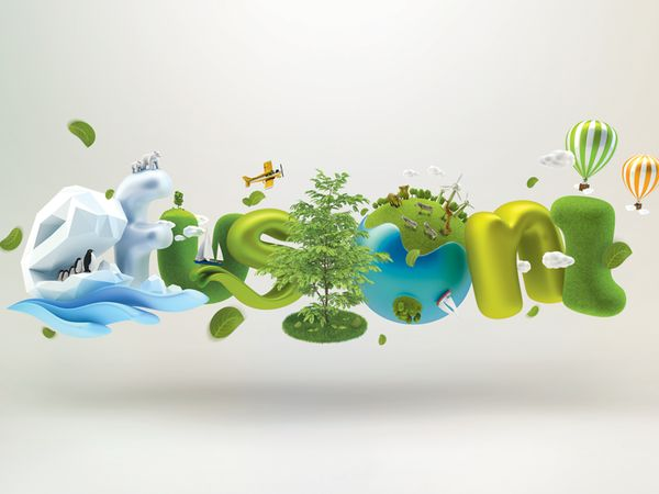 3D typography by Sion Junghwan