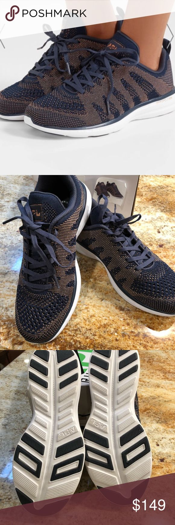 BRAND NEW APL SNEAKERS: Techloom Pro W size 8 APL TECHLOOM PRO W- Midnight/ Rose Gold Size 8 APL Shoes Athletic Shoes