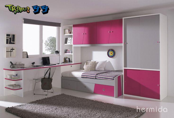 Habitaciones juveniles buscar con google cuartos peque os muebles muebles hermida y - Hermida muebles ...