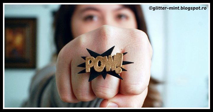 DIY Pow Bam Plastic Ring Tutorial