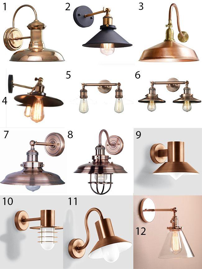 Best 25 copper lighting ideas on pinterest copper accessories copper floor lamp and copper for Copper bathroom light fixtures