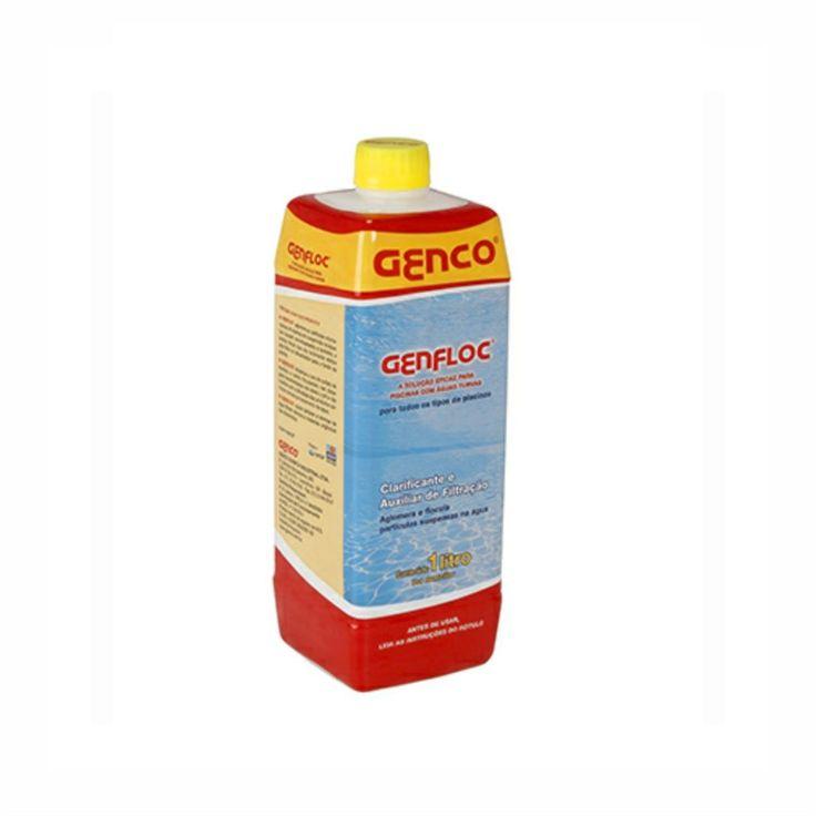 Clarificante Auxiliar de Filtração 1l Genfloc Genco é um eficiente clarificante a auxiliar de filtração para águas de piscinas. Sua ação floculante atrai eletrostaticamente as partículas de sujeira que normalmente passariam pelo meio filtrante e forma com