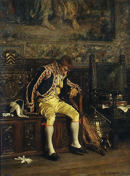 """A Footman Sleeping"" by Charles Bargue (1871) at the Metropolitan Museum of Art, New York"