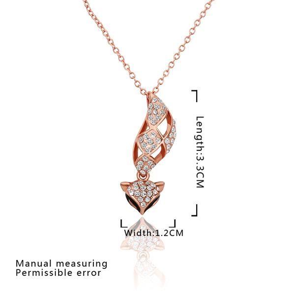 Классические розовые позолоченные ожерелья для женщин Rhinestone для женщин GPP103 0
