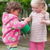 Hanorac roz cu buline pentru fete acum la reducere de Craciun 40%