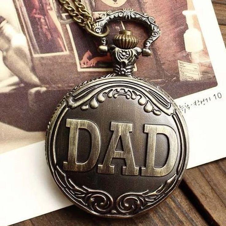 Antique Bronze DAD Chain Necklace Pocket Watch   Lazada PH