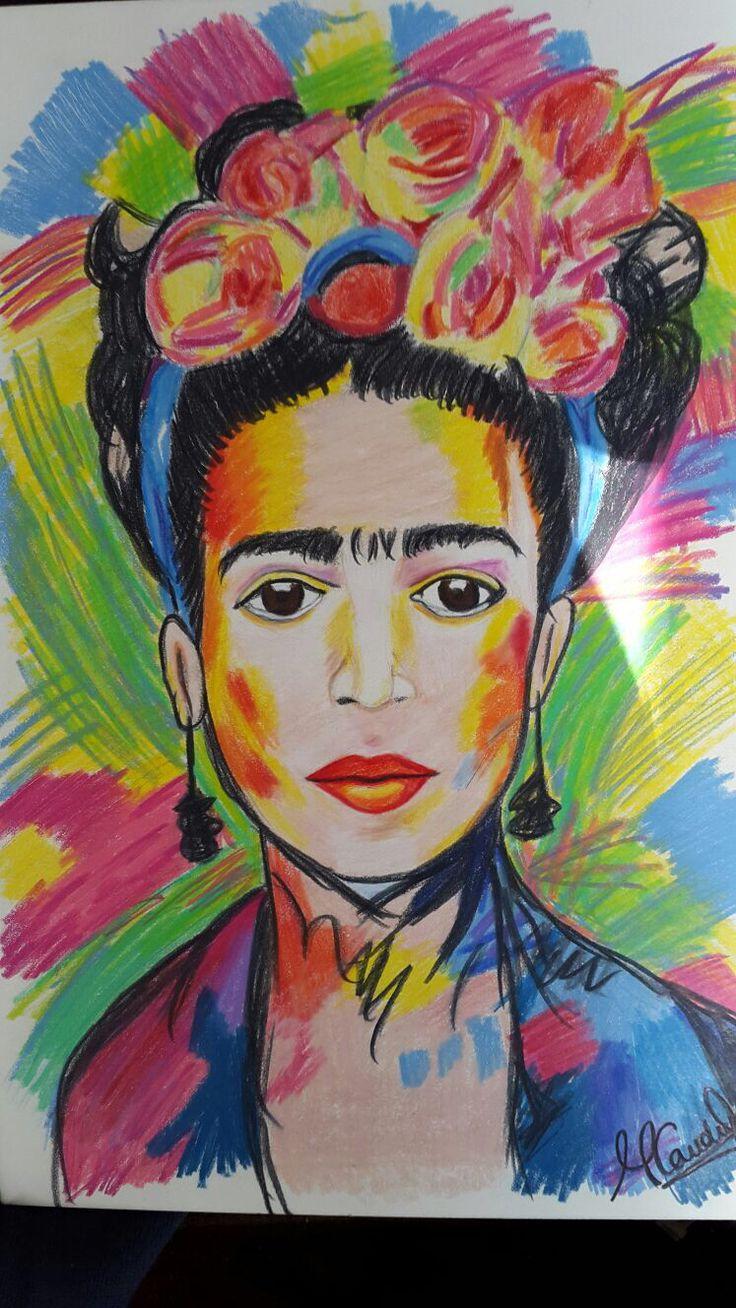 Frida Kahlo. By MajoCauduro. #coloredpencils #paint #fridakahlo