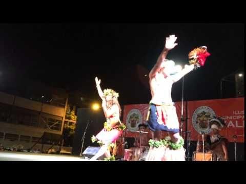 Ballet Cultural Puku Rangi Tea de Rapa Nui, Chile. 19 feb 2016.