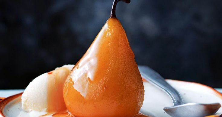 Traditional South African rooibos tea adds unique flavour to these delicious poached pears.